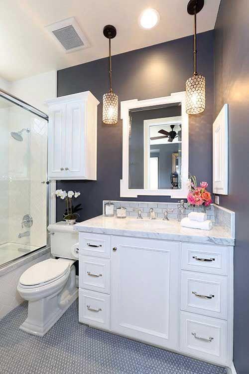 A tinta usada para pintar o banheiro deve ser epóxi que é resistente a umidade.