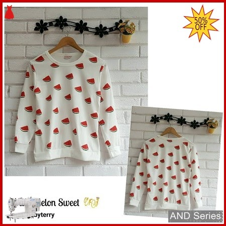 AND160 Baju Atasan Wanita Kaos Water Melon BMGShop