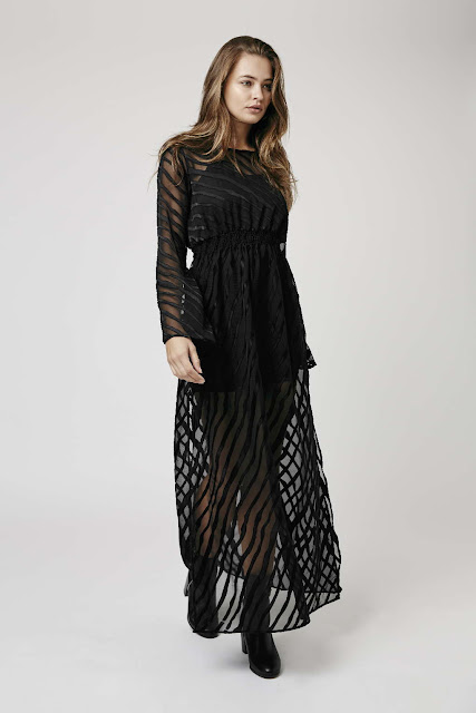 black diagonal stripe dress, black stripe sheer dress,