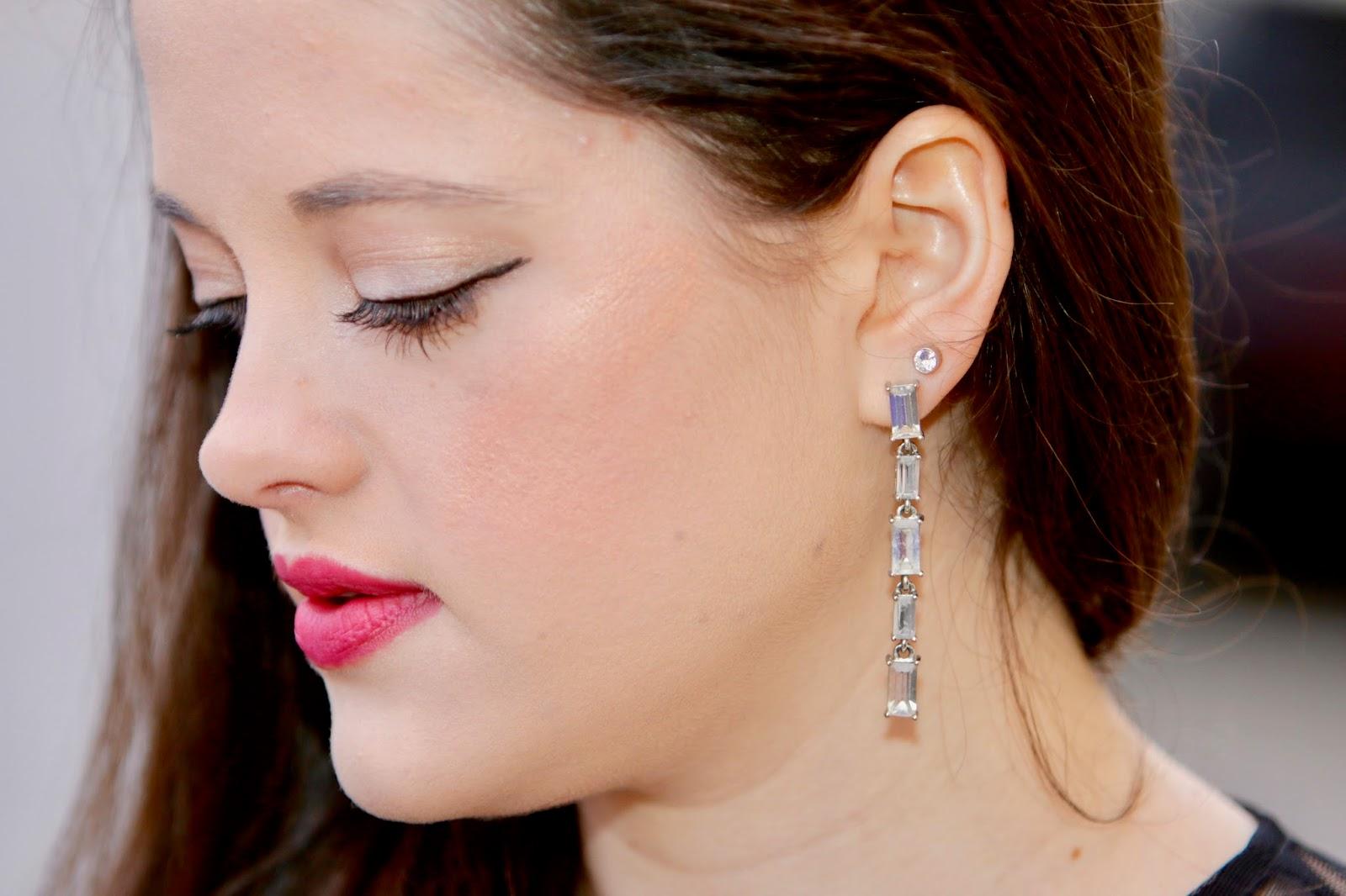 crystal dangle earrings pics