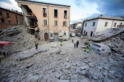 Accumoli, Amatrice, földrengés, Olaszország, természeti katasztrófa,