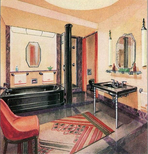 The Closet Historian: The Art Deco Bathroom
