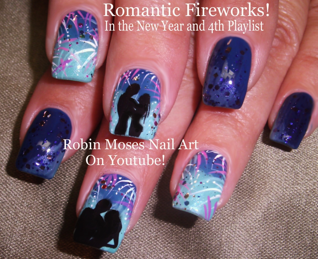 Romantic Firework Nail Art Design Tutorial up for the 4th of july! Have fun  painting!!! - Nail Art By Robin Moses: Romantic Firework Nail Art Design Tutorial