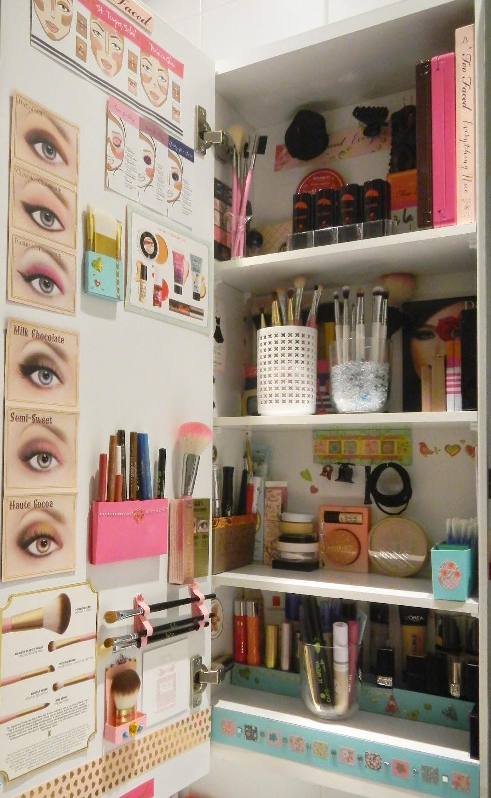 le blog d 39 une rose des bois introduction mon rangement maquillage. Black Bedroom Furniture Sets. Home Design Ideas