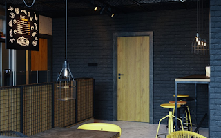 Drzwi wewnętrzne loft cegła / beton