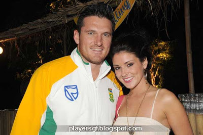 Graeme Smith and his wife Morgan Deane
