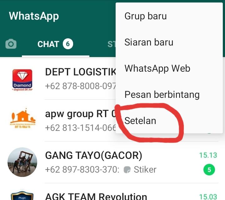 cara mematikan whatsapp download otomatis