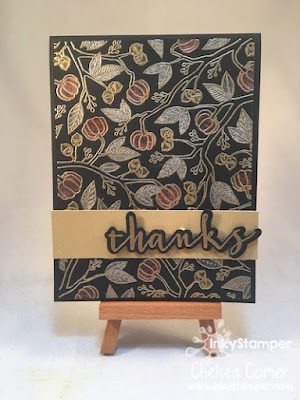 Silk and Embossed Fall card