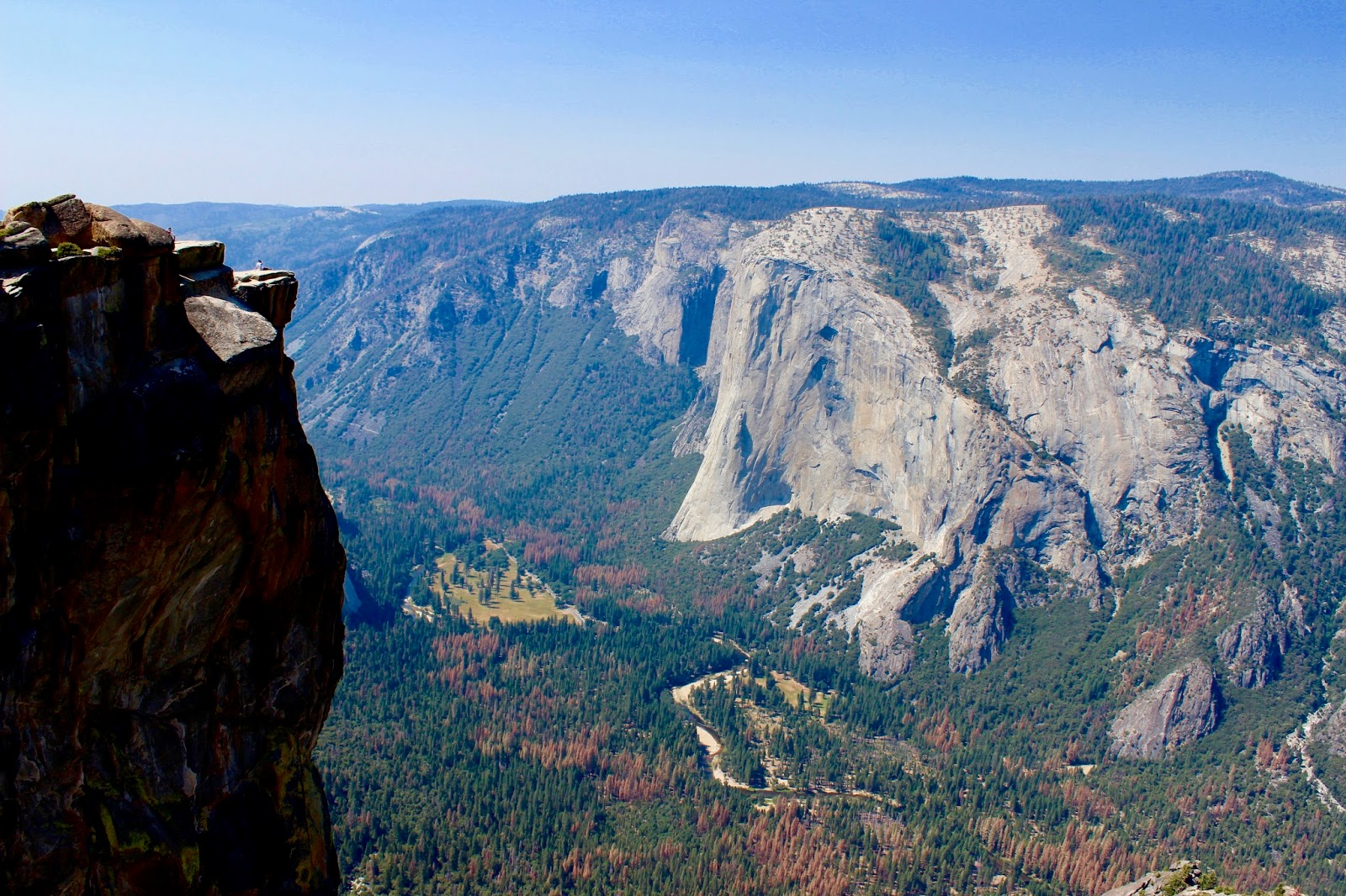 Traft Point and El Capitan in Yosemite National Park California