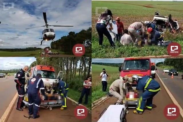 Grave acidente na BR-272 entre Campo Mourão e Farol