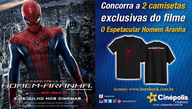 Promo: Concorra a duas camisetas exclusivas do filme O Espetacular Homem-Aranha. 10