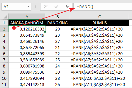 Cara Membuat Angka Random Tidak Kembar / Berulang Di Excel