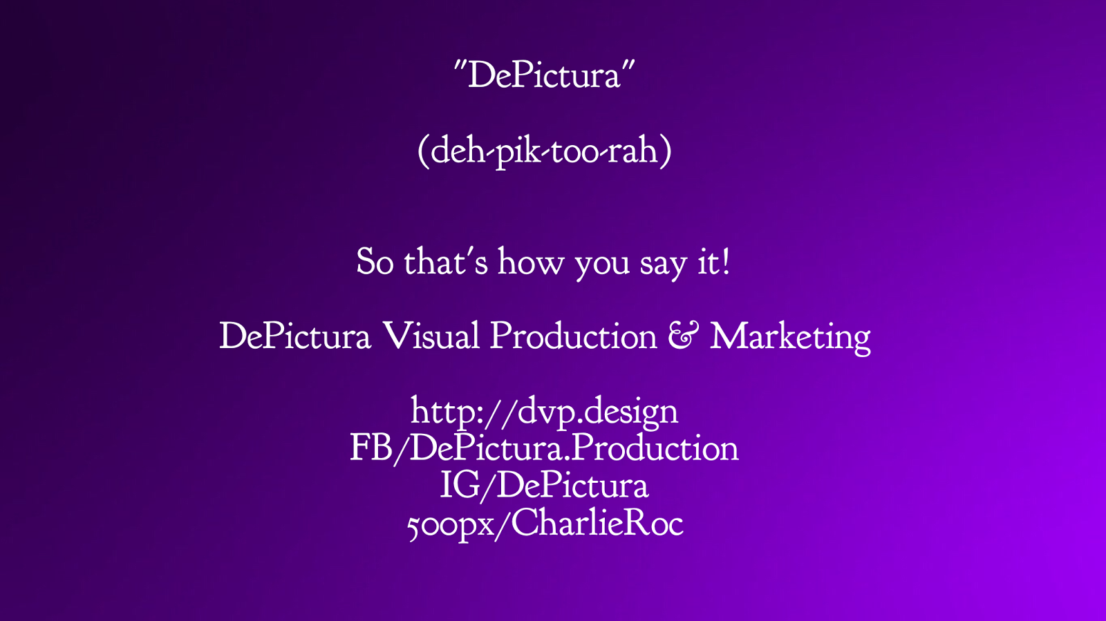 Depictura Visual Production And Marketing