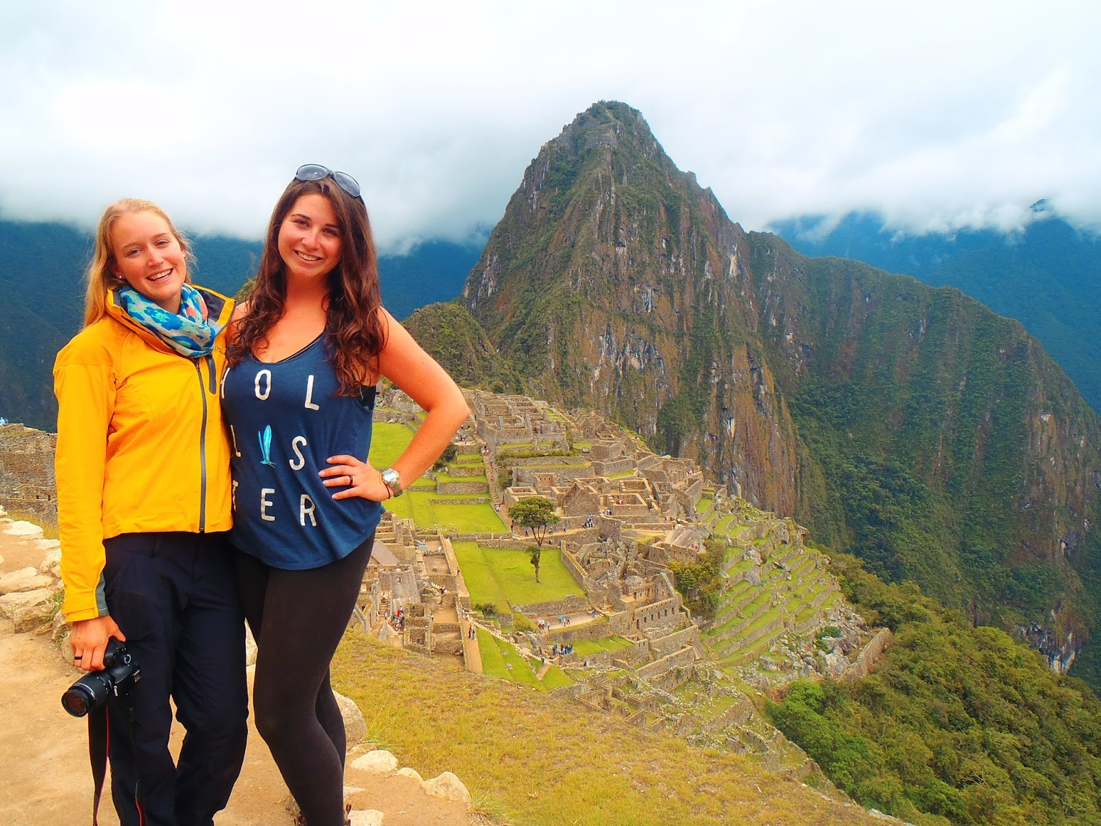 Girls at Machu Picchu