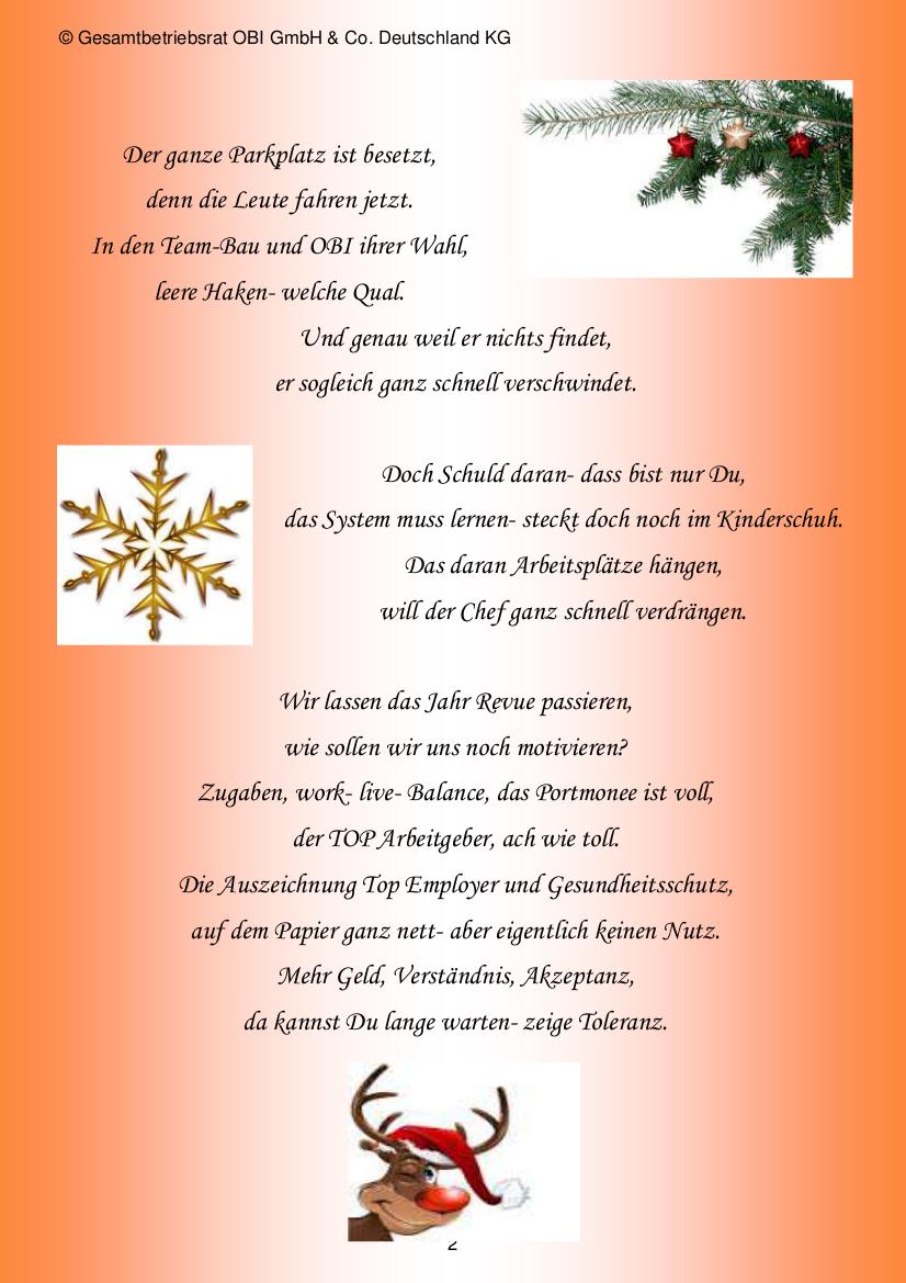 Weihnachtsgrüße Arbeitgeber.Obi Ver Di Infoblog Weihnachtsgruß Gbr Deutschland
