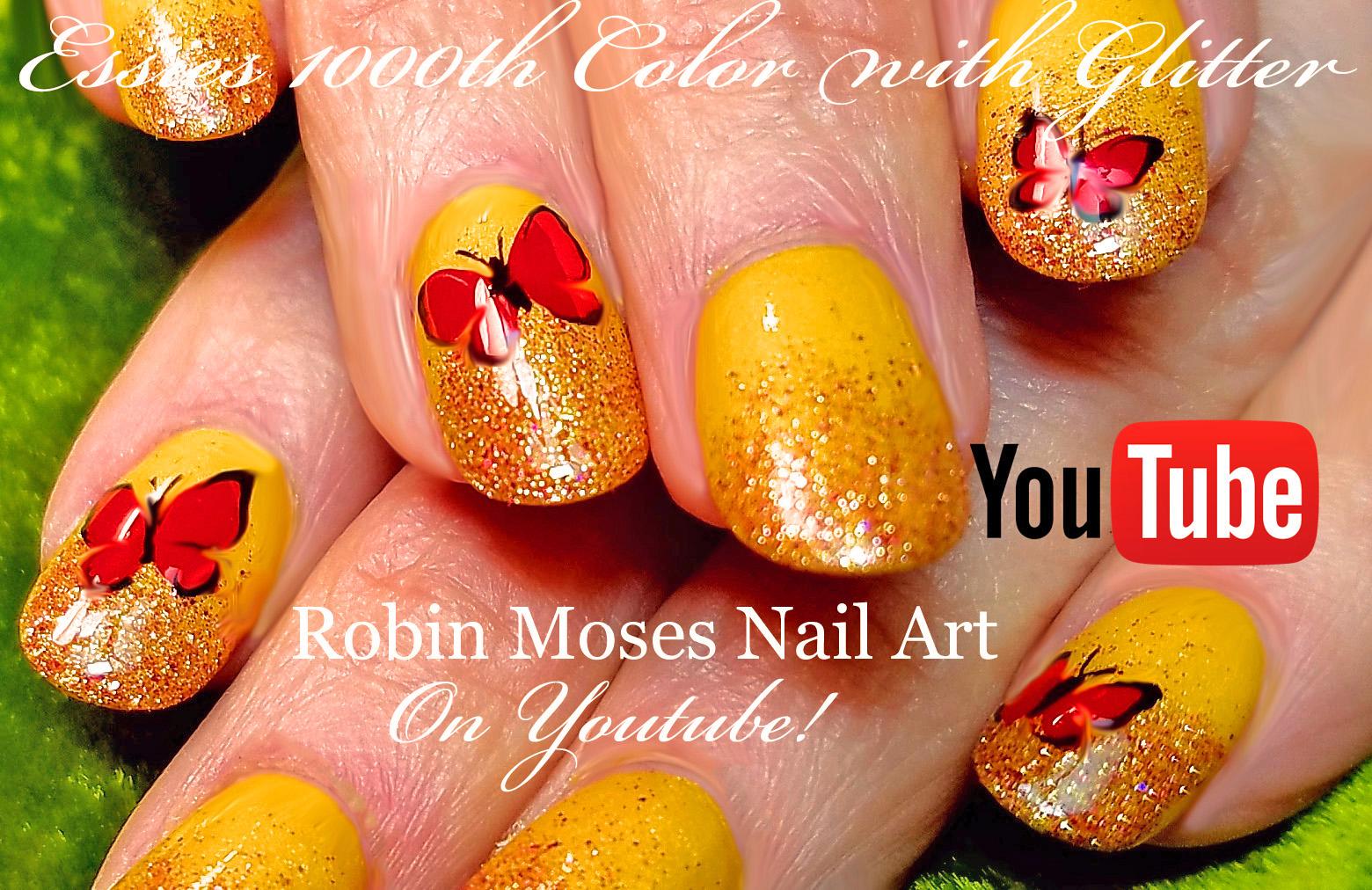 Nail Art by Robin Moses: ESSIE 1000 Polish Holo Glitter Gold ...