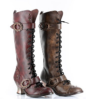 Vintage Steampunk Knee High Boots