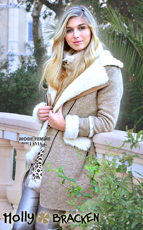 Manteau beige molletonné Molly Bracken