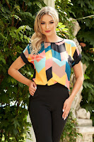 Bluza dama StarShinerS neagra eleganta asimetrica