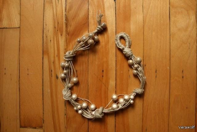 Como hacer una Gargantilla de Nudos y Perlas