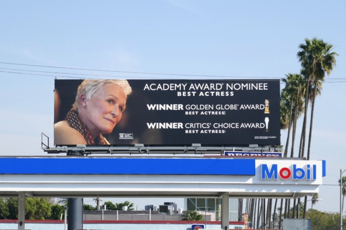 Glenn Close The Wife Oscar billboard