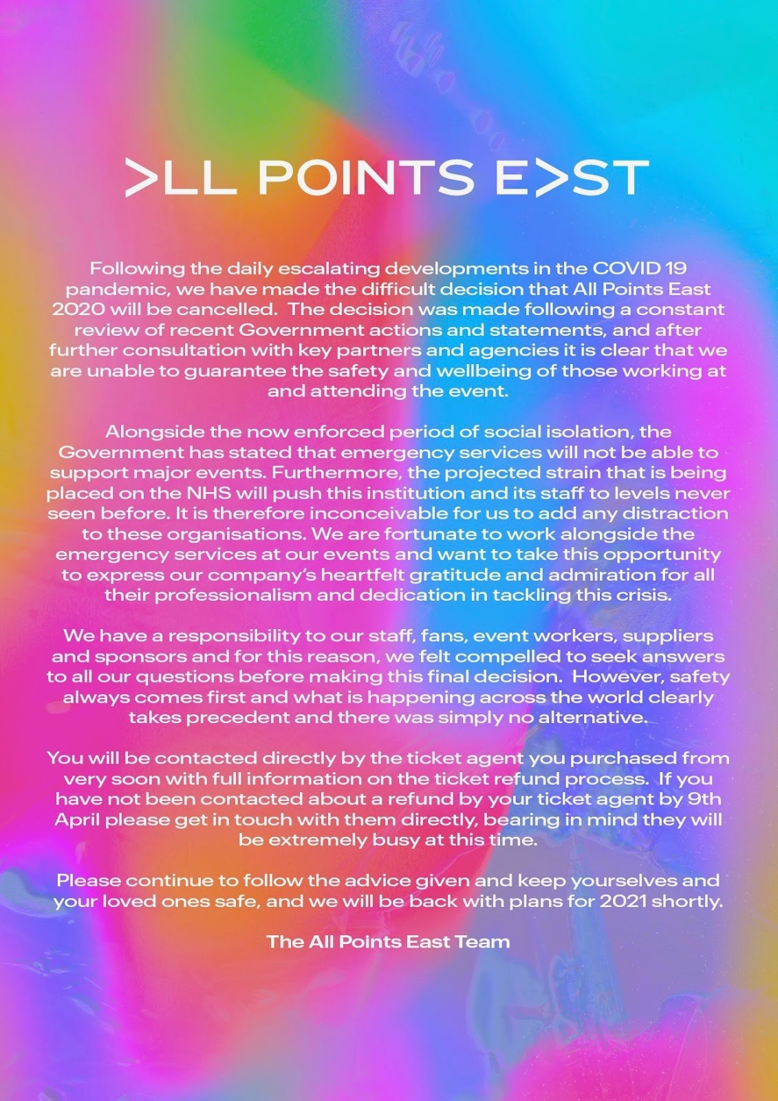 All Points East, 29 May 2020 - A Certain Ratio Gigography
