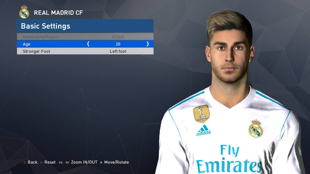 PES MODIF PES 2017 MARCO ASENSIO FACE BY SHENAWY