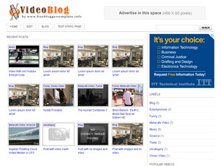 Free video blog website templates free video templates.