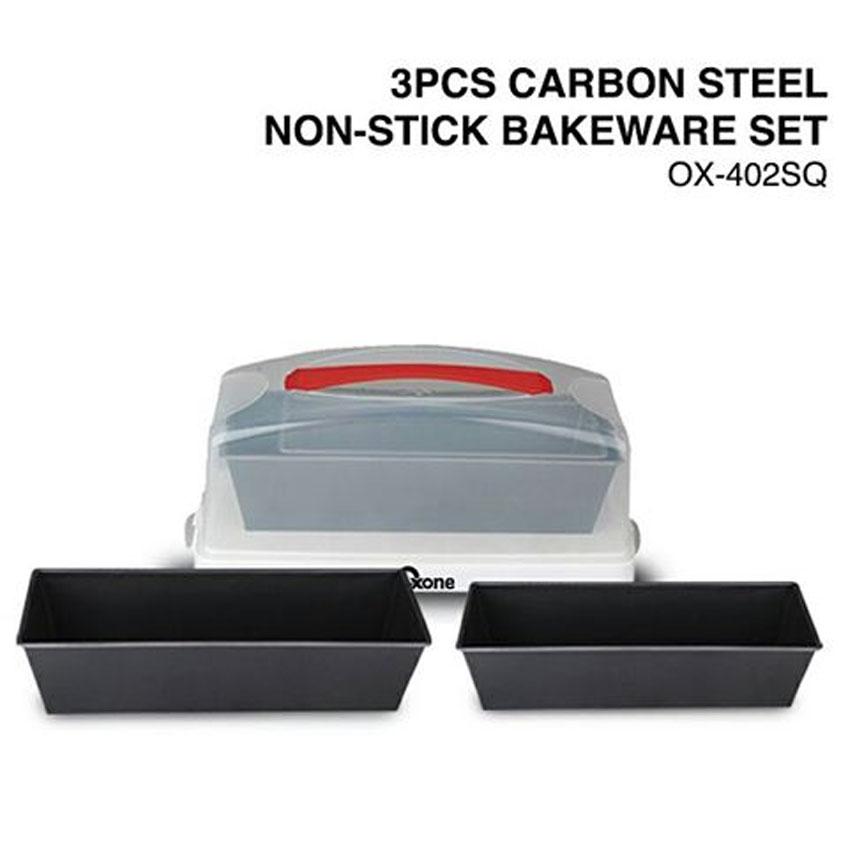 OX-402SQ 3Pcs Oxone Carbon Steel Non-Stick Bakeware Set