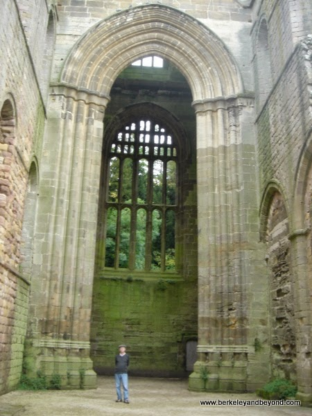 Fountains Abbey ruin in Ripon, North Yorkshire, England