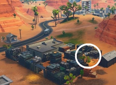 Streetlight Spotlight Location, Paradise Palms, Fortnite, Season 6 Week 1