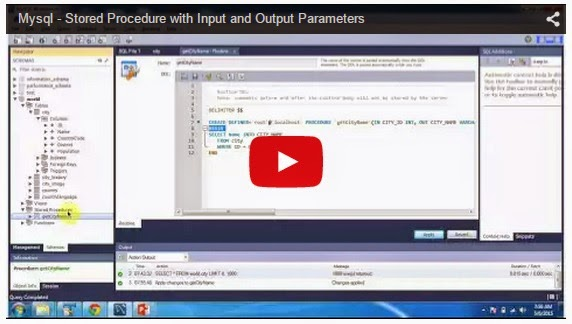 JAVA EE: Mysql - Stored Procedure with Input and Output Parameters