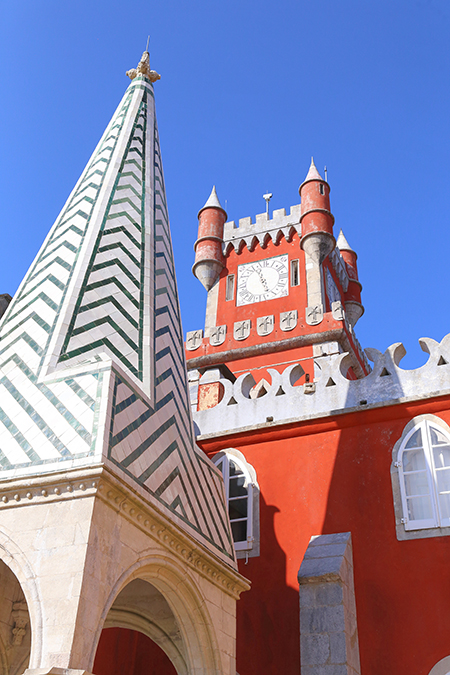 No need to adjust your sets: the famously colourful Pena Palace in Sintra, Portugal; is indeed a technicolour dream castle. Read more on Posh, Broke, & Bored.