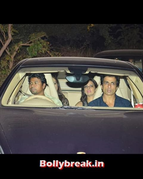 R...Rajkumar star Sonu Sood too came for the do. The actor shares a great bond with Salman, Having worked in the hit film Dabangg., Salman Khan Birthday bash Pics