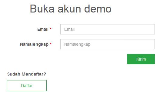 Daftar akun demo