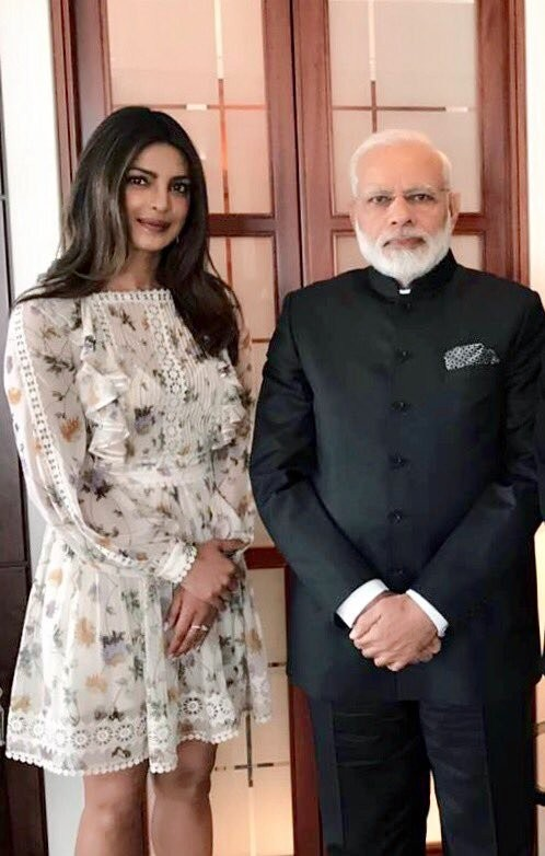Priyanka Chopra Meets Narendra Modi In Berlin