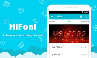 Aplikasi Pengganti Font Android Dengan Aplikasi HiFont