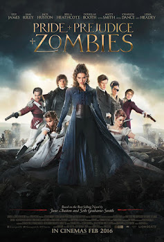 Poster Of English Movie Pride Prejudice And Zombies 2016 300MB 720P BRRip Full Movie Free Download Watch Online At WorldFree4u.Com