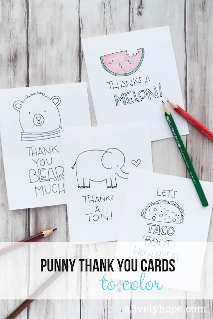 Cool A Lively Hope Pun Thank You Cards To Color Birthday Cards Printable Opercafe Filternl