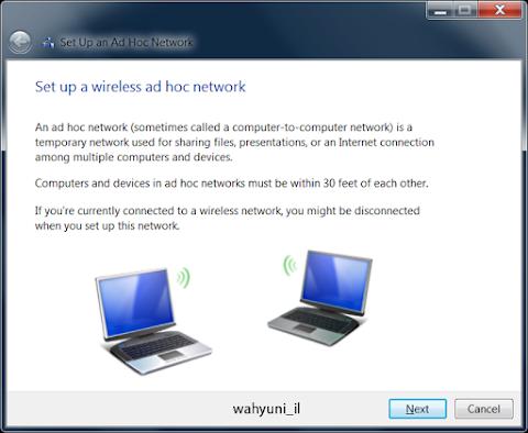 Membuat Koneksi Wireless Antar Laptop Tanpa Kabel (Adhoc) Windows 7