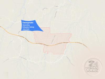 PETA : Desa Karangmukti, Kecamatan Pabuaran