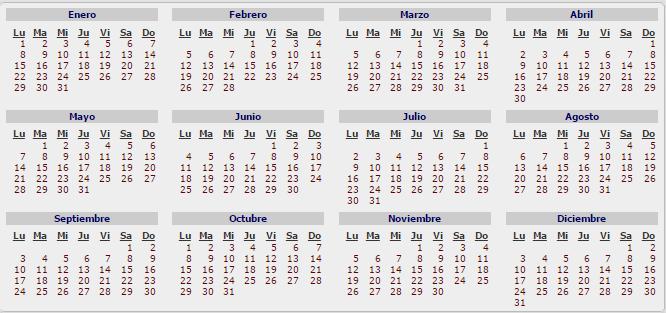 Calendario con feriados 2018 en puerto rico calendario for Calendario 2015 ministerio del interior