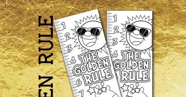 Golden Rule Sunday School Craft