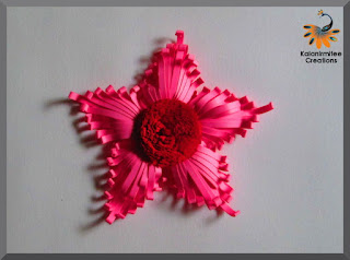 kalanirmitee: paper quilling- quilling ideas- quilled flower-quilled majestic flower- quilled project- quilled comb technique-quilled tutorial- 3D quiiling