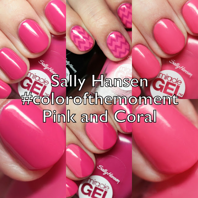 Sally Hansen Miracle Gel #colorofthemoment Pink and Coral