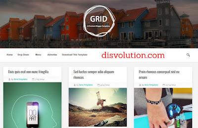 Template Terbaru 2017 Grid Template Blog Downlaod Gratis