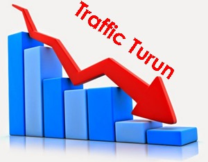 penyebab traffic blog turun
