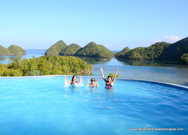 at Sipalay's most popular infinity pool