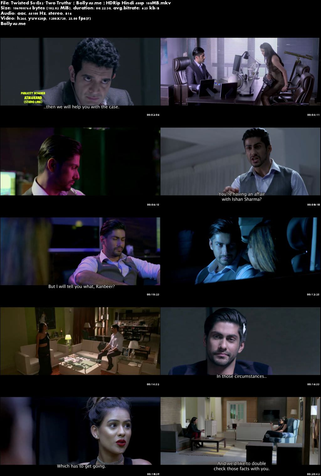 Twisted S01E02 Two Truths WEBRip 100MB Hindi 720p ESub Download