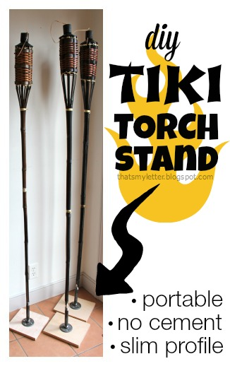 diy portable tiki torch stand